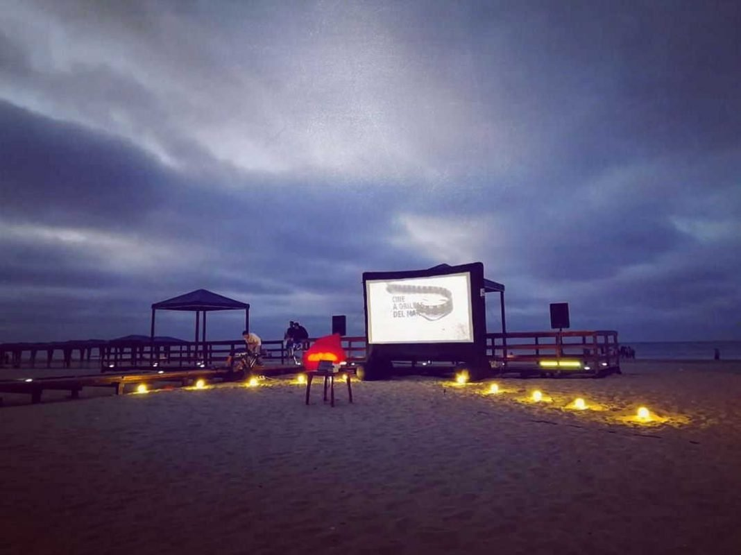 Cinema on the beach Ecuablue manta ecuador nightlife