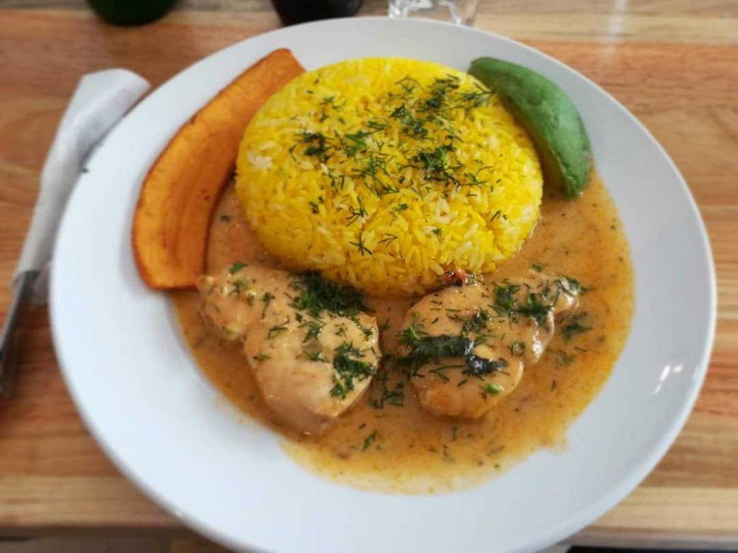 seco de pollo dish in manta ecuador