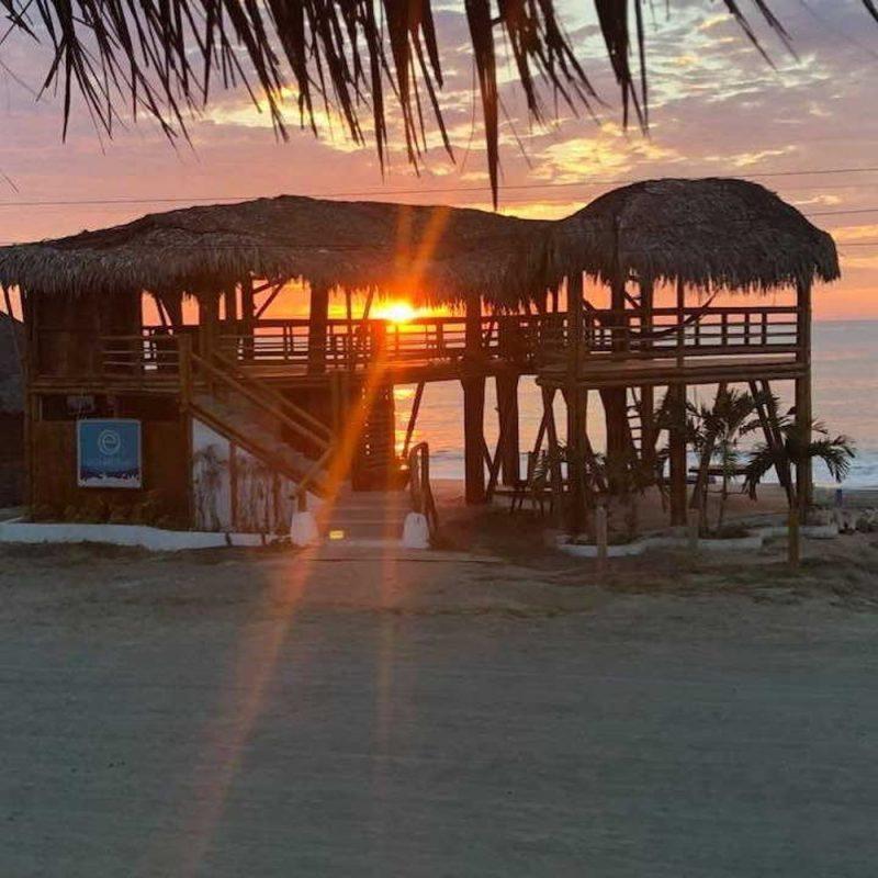 One day in Manta Ecuador sunset at santa marianita